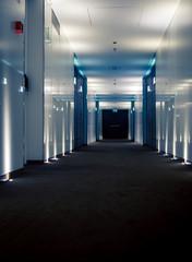 interior of hotel hallway
