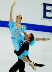 GERMANY'S WINKLER AND LOHSE PERFORM DURING THEIR ICE DANCING ORIGINALDANCE PROGRAM AT THE EUROPEAN ...