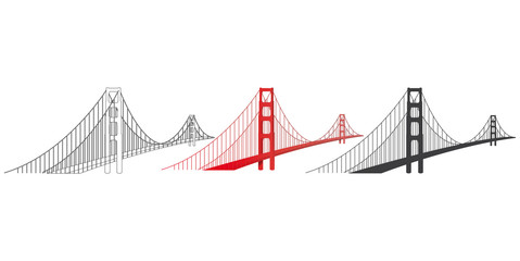 GOLDEN GATE BRIDGE. SAN FRANCISCO.