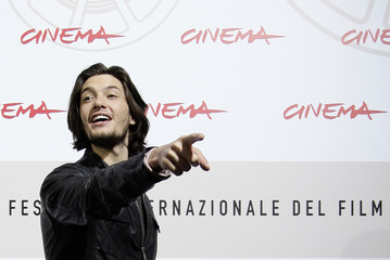 "Actor Barnes gestures as he poses during the photo call for his movie ""Easy Virtue"" at the Rome Film Festival"