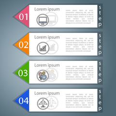 four steps to a successful business. Infographic design.