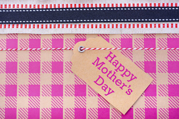 Happy Mothers Day gift close up.