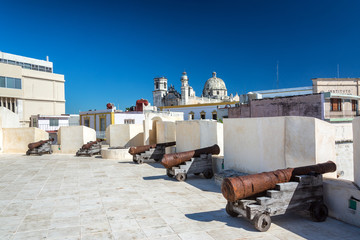 Cannons in Campeche, Mexico