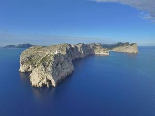 Vista aerea faro de Formentor, Mallorca, España