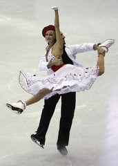 Belbin and Agosto of the U.S. perform during the Senior Ice Dance program at the ISU Grand Prix of Figure Skating Final in Goyang near Seoul