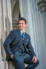 American Businessman waiting for you outside in New York