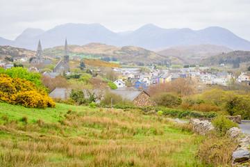 Irish  rural town at connemara national park, Ireland