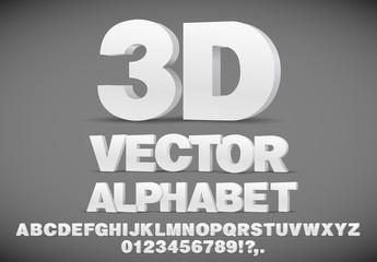 3D Alphabet Set