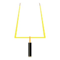 Isolated football goal post on a white background, Vector illustration