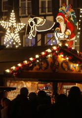 Tourists visit traditional Christkindelsmaerik in Strasbourg
