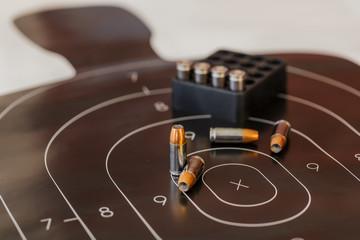 Gun Ammunition And Target