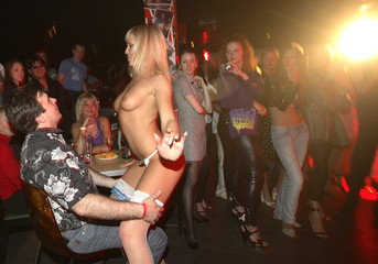 A performer takes part in the Miss Striptease 2009 competition in Russia's Siberian city of Krasnoyarsk