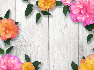 Bright Flower Border