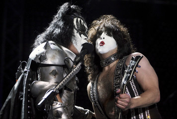 US rock band Kiss performs during their concert at the Parque Simon Bolivar in Bogota