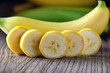 Banana on wood