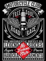Motorcycle label t-shirt design