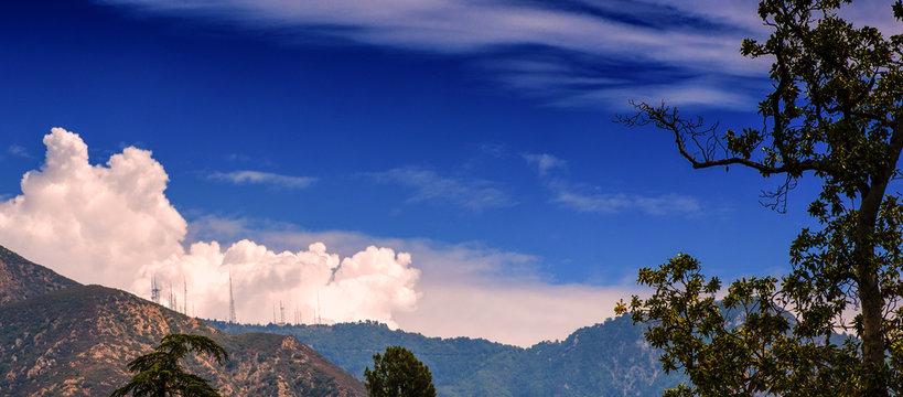Mt. Wilson Antenna Farm with Thunderhead Clouds