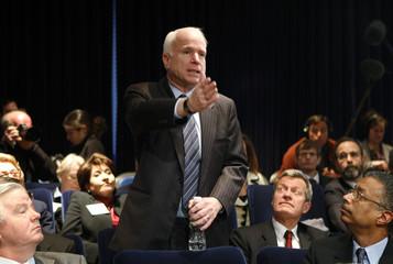 File photo shows U.S. Senator McCain speaking at Fiscal Responsibility Summit at White House in Washington