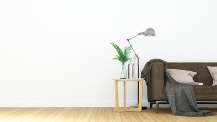 The interior relax space and decoration in condominium - 3D Rendering