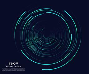 Fototapeta Abstract vortex, circular swirl lines. Star trails around in the night sky.  obraz