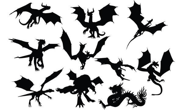 Dragon Silhouette vector illustration