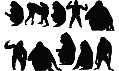 Gorilla Silhouette vector illustration