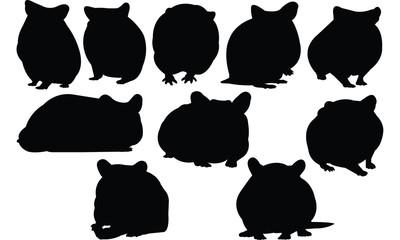 Hamster Silhouette vector illustration