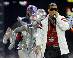 """Puerto Rican reggaeton artist Daddy Yankee performs at the """"Premios Juventud"""" Latin music awards show in Coral Gables"""
