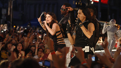 The Black Eyed Peas perform during the 2009 MuchMusic Video Awards in Toronto