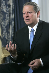 Former U.S. Vice President Al Gore speaks during an interview with Reuters in Oslo