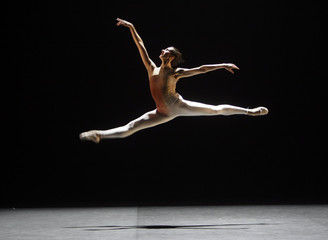 Dancer Isabelle Brusson performs Victor Ullate's choreography La pastoral during a dress rehearsal in Madrid