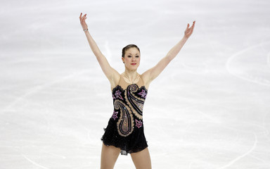 Finland's Lepisto performs during the women's free program at the European Figure Skating Championships in Helsinki