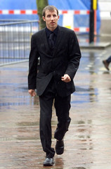 LEEDS UNITED SOCCER PLAYER LEE BOWYER LEAVES HULL CROWN COURT.