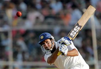 Laxman of India hits shot in Ahmedabad