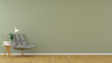 The interior Relax space in condominium - 3d rendering