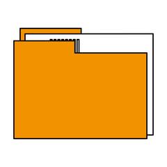 color silhouette image documents folder with sheet