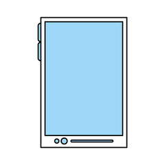 color silhouette image tech tablet device