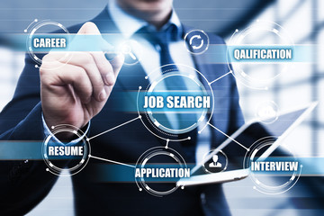 Job Search Human Resources Recruitment Career Business Internet Technology Concept