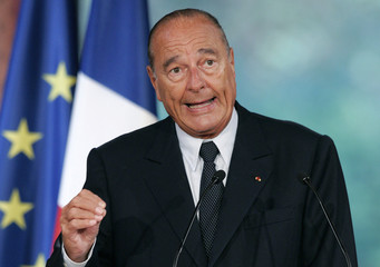 France's President Jacques Chirac addresses ambassadors at the opening of a three-day French Ambassadors Conference at Elysee Palace in Paris