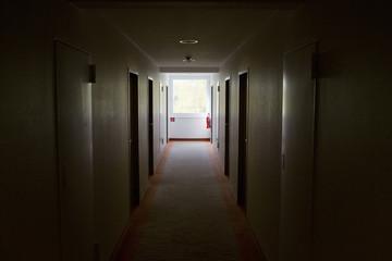 corridor in a hotel