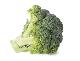 Fresh broccoli isolated on white background.