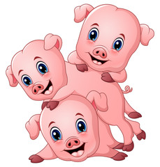 Three little pig cartoon