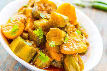 Indian Vegetarian Curry Dish Close Up Image.