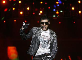 Pop star Rain of South Korea performs in Singapore
