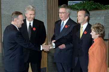 CANADIAN FEDERAL LEADERS MEET FOR SECOND DEBATE IN OTTAWA.