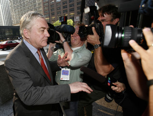 Conrad Black arrives at the Dirksen Federal courthouse in Chicago