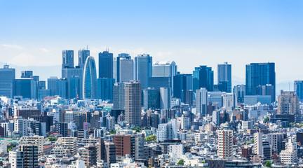 新宿副都心の高層ビル群 Fototapete