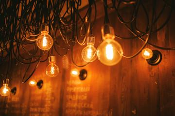 Decorative antique edison style filament light bulb