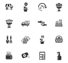 flower shop icon set