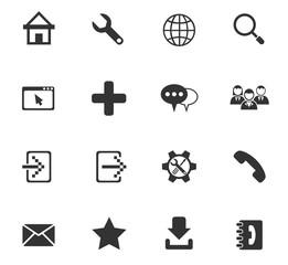 web tools icon set